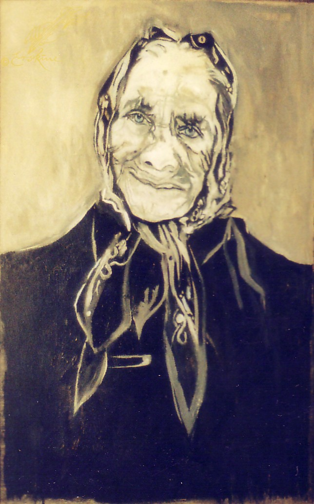 Cretan Lady, oil on canvas, .8x1m