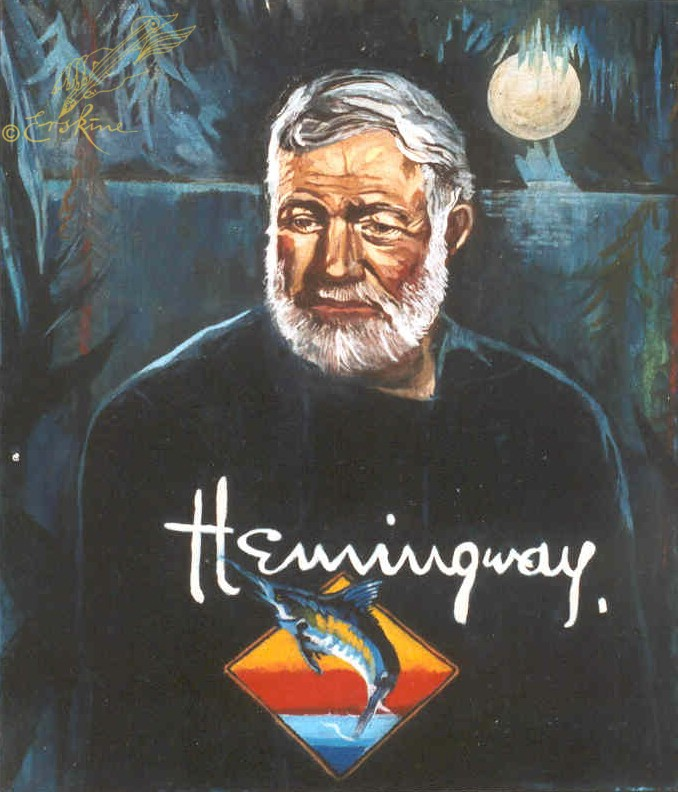 Ernest Hemingway - Havana Moon 80x100