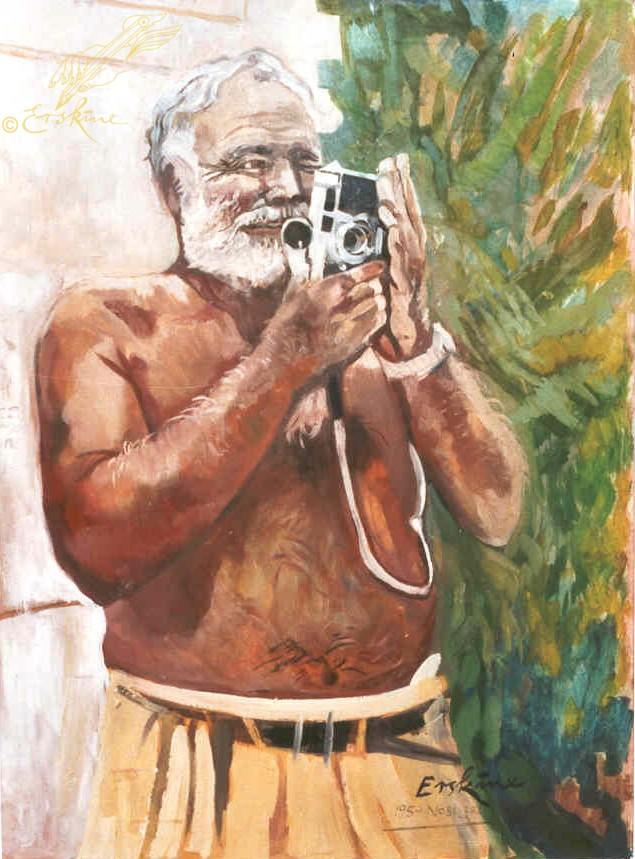 Ernest Hemingway - Key West 70x90