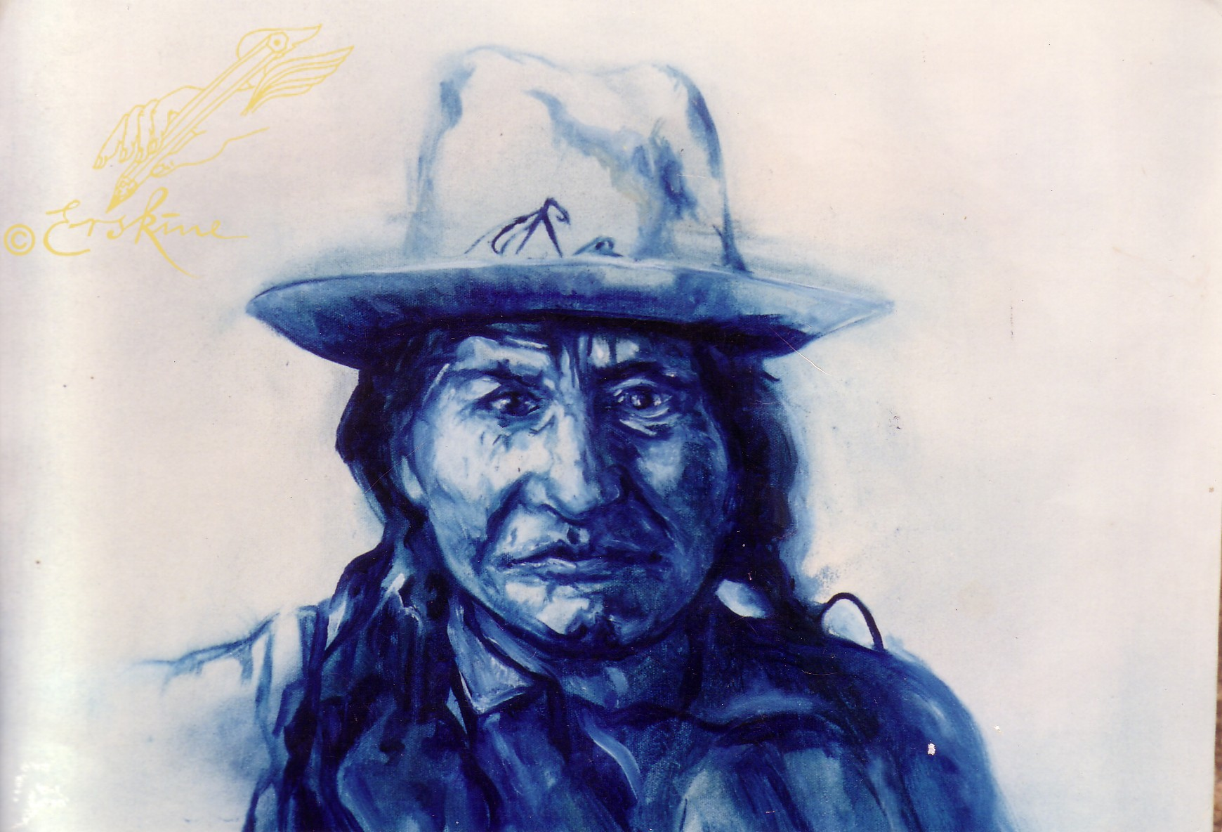 Geronimo - Chiricahua apache chief. oil on canvas, .8x.6m PC