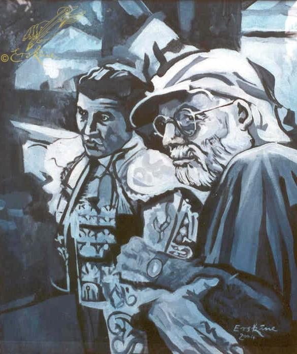 Hemingway and Matador, Madrid 60x80