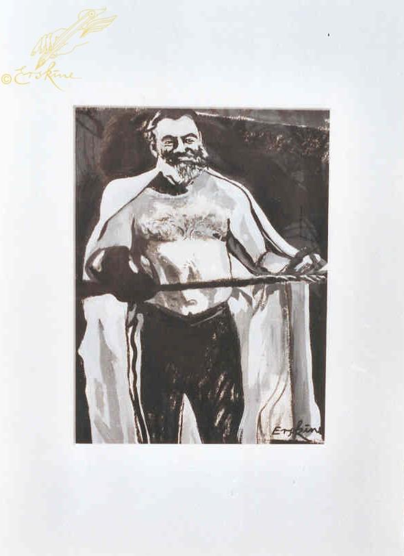 Hemingway boxer. 50x70