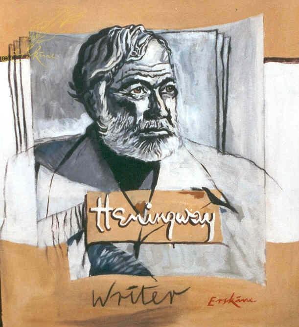 Hemingway - writer. 90x100