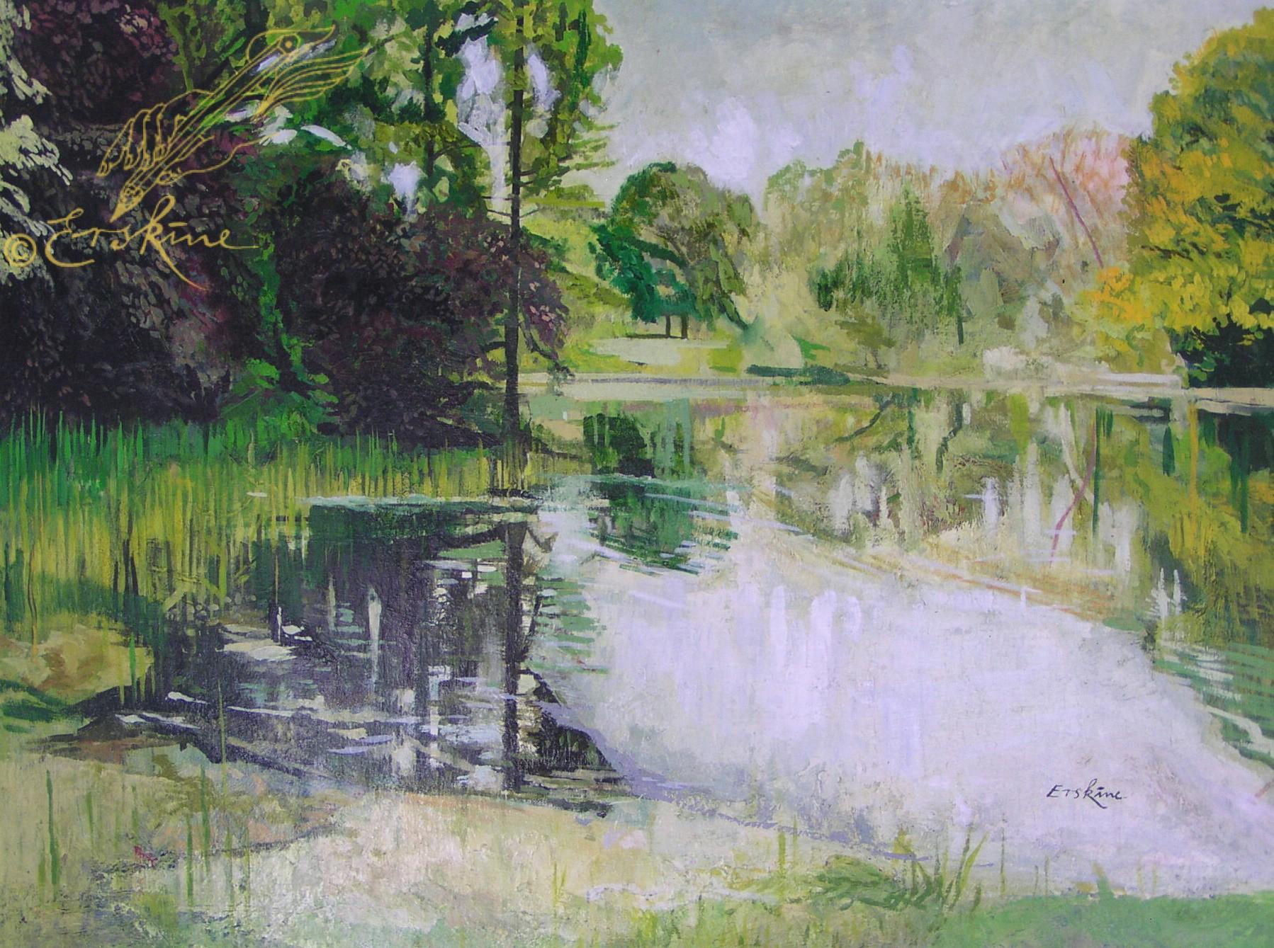 Lake at Kew Gardens. 1