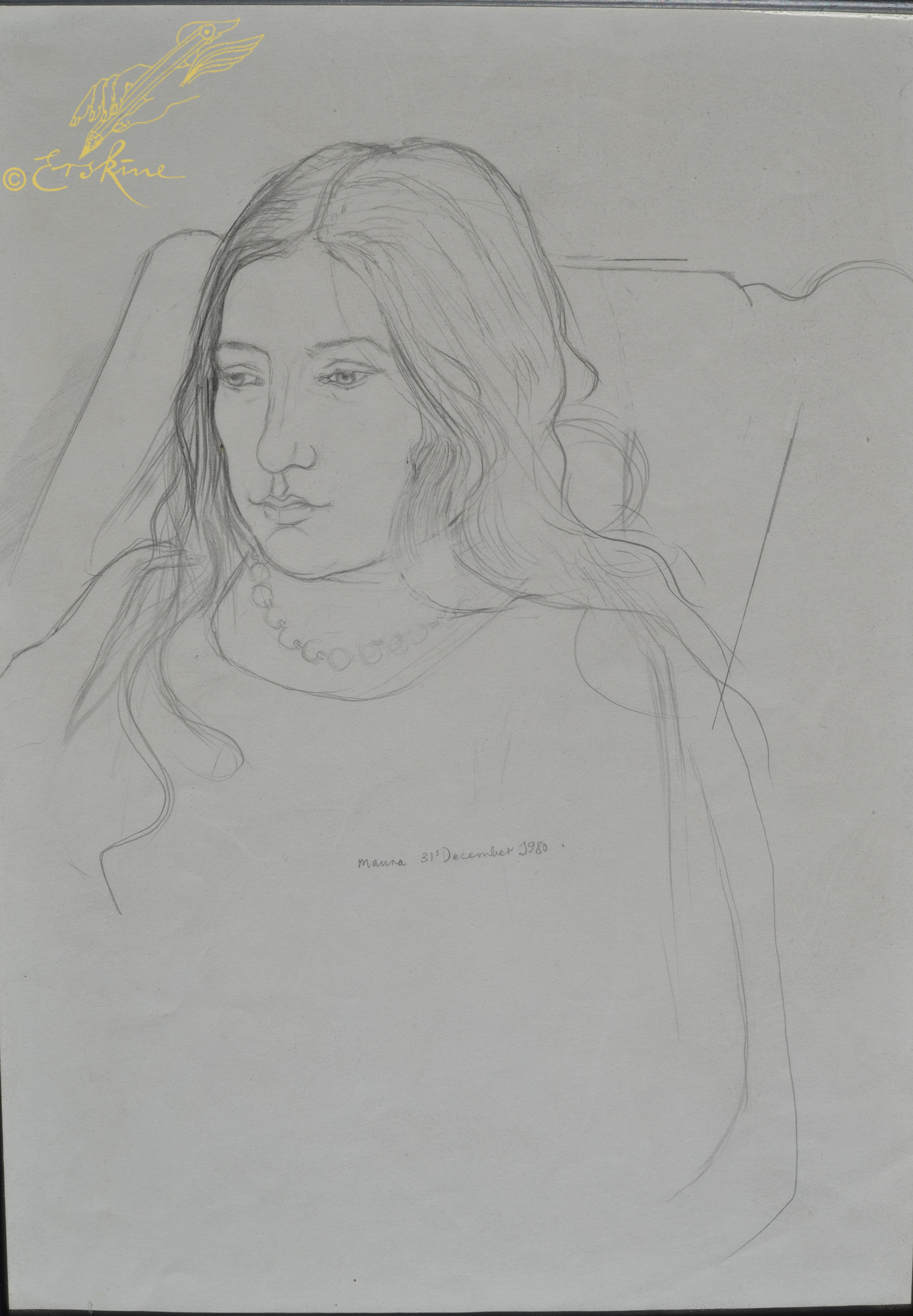 Maura in pencil 1984