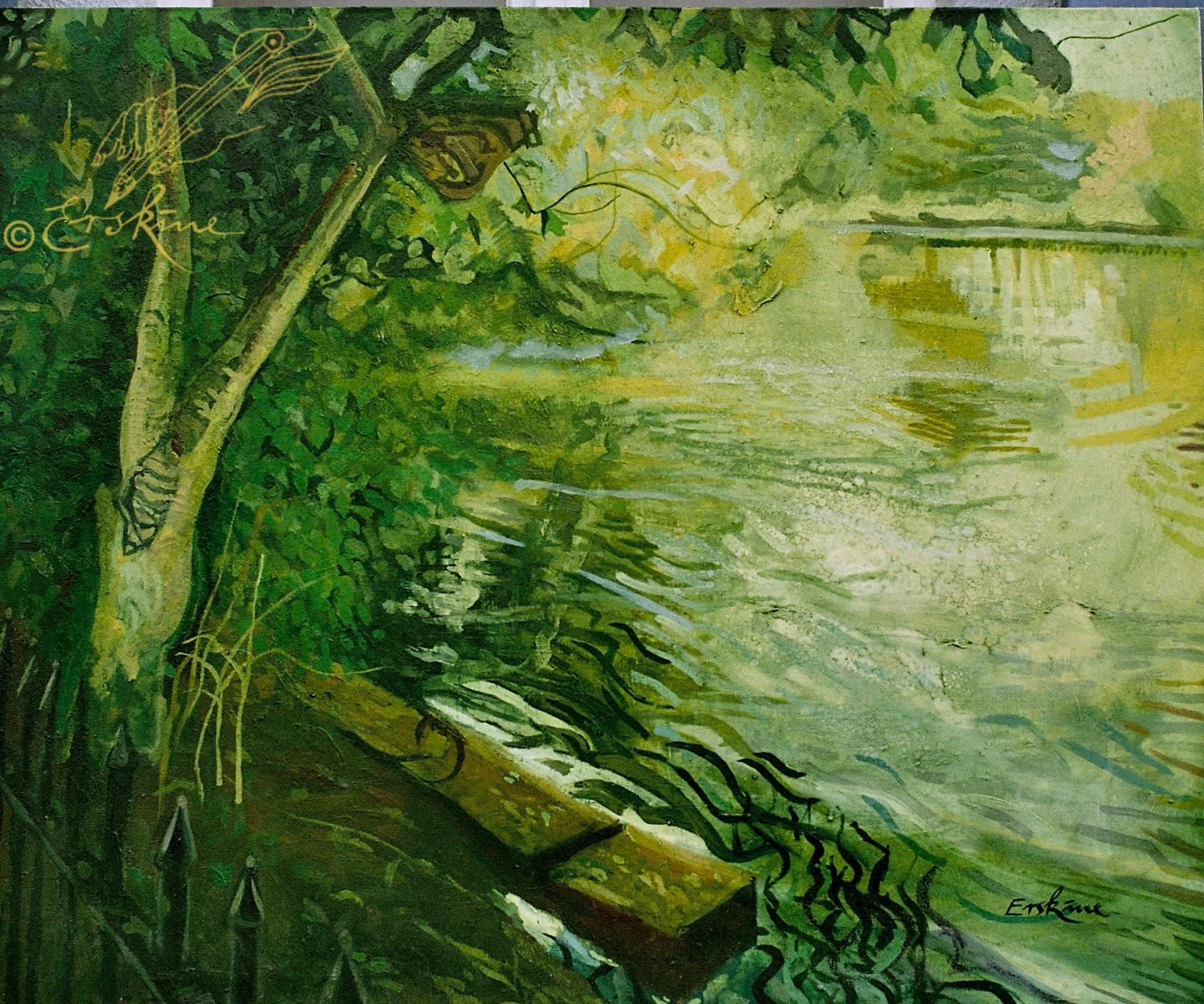 Pond, Hampstead Heath. 1.2x1