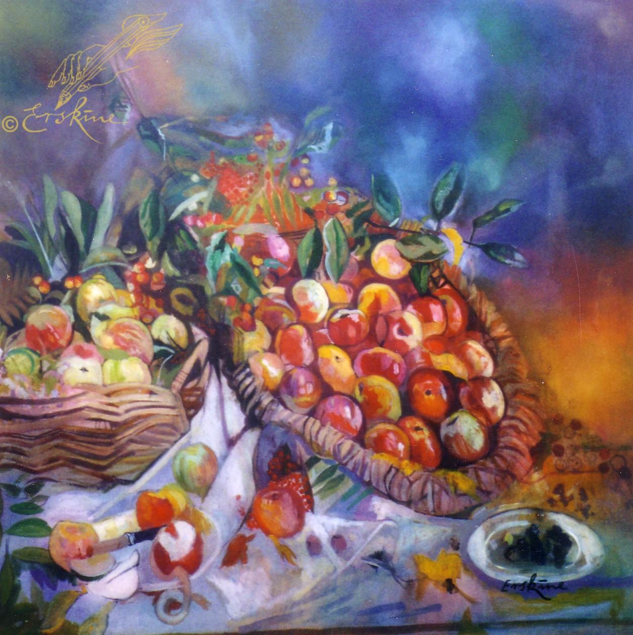 Still life, oil on canvas, 1.4x1.4