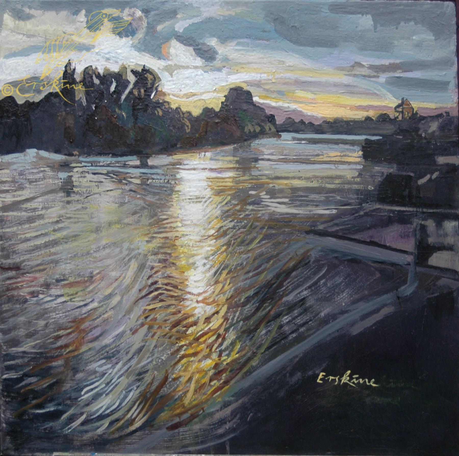 Sunset at Teddington Lock
